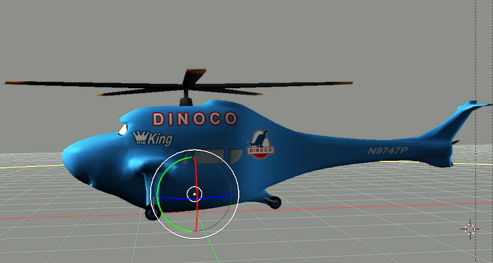 Blue Cartoon Helicopter 3d model 3ds Max,Blender files free