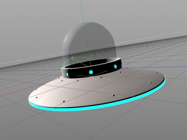 Alien UFO 3d model Cinema 4D files free download - modeling 44648 on