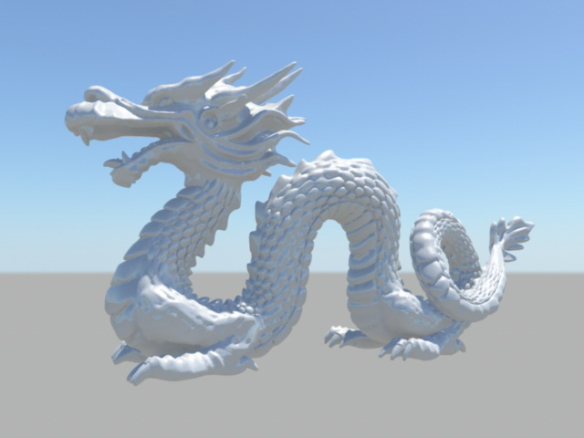 White Chinese Dragon Sculpture 3d model