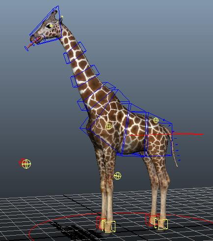 Beautiful Giraffe Rig 3d model