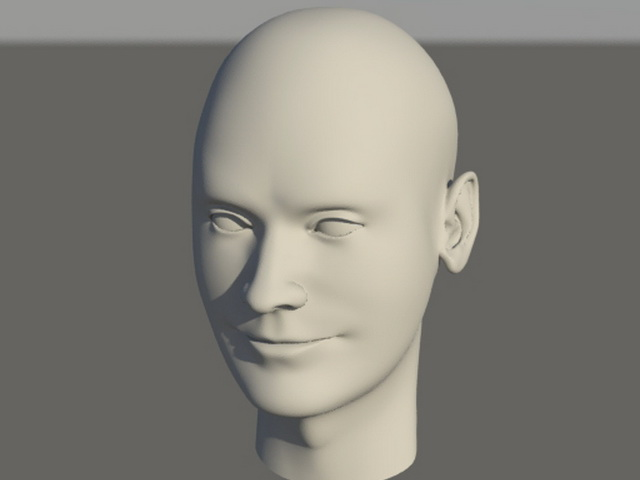 Young Man Head 3d model
