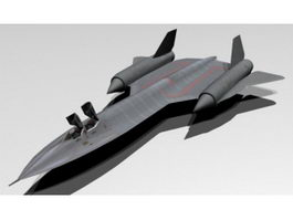 SR-71 Blackbird 3d model
