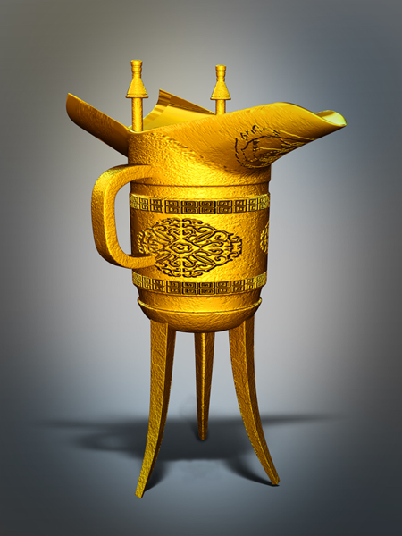Ancient Chinese Wine Cup 3d model