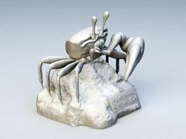 Crab Sculpture 3d model