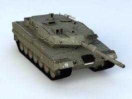Leopard 2A6 Tank 3d model