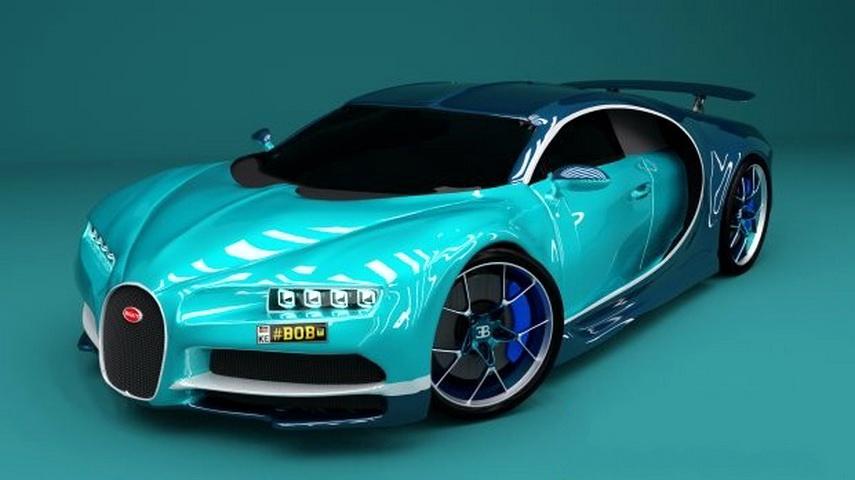 2017 Bugatti Chiron 3d model Blender,Object files free download
