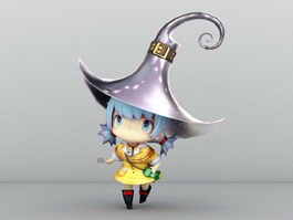 Cute Little Witch 3d model