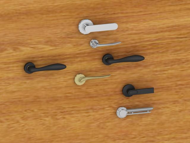 Lever Door Handles Collection 3d model