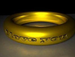 Antique Gold Ring 3d model