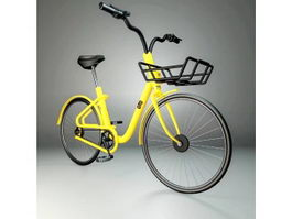 Yellow Bike 3d preview