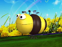 Bumble Bee Cartoon 3d model