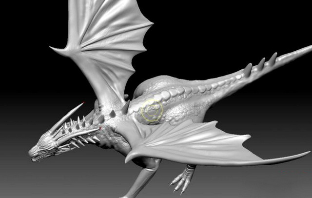 Cool Dragon 3d model Zbrush files free download - modeling 44692 on