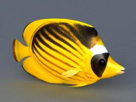 Yellow Ocean Fish 3d model