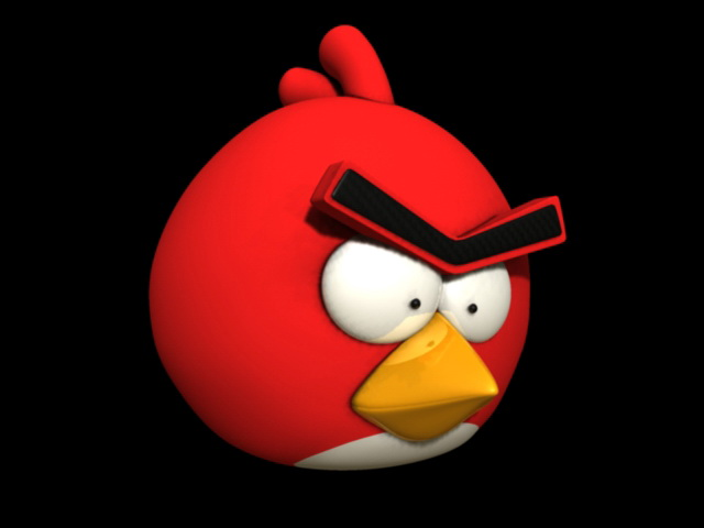 Red Angry Bird 3d model