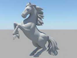 Horse Rearing Up 3d model