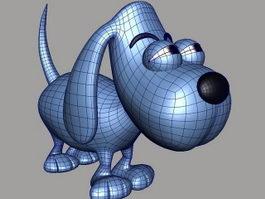 Cartoon Blue Dog 3d model