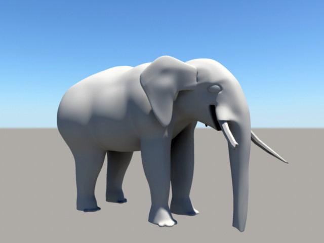 Injured Elephant 3d model