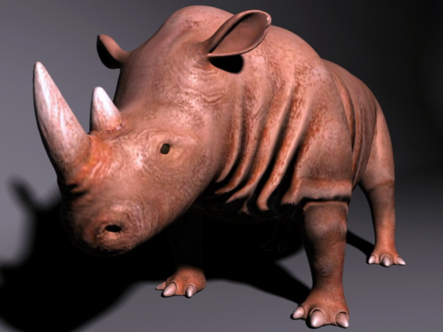 Brown Rhino 3d model