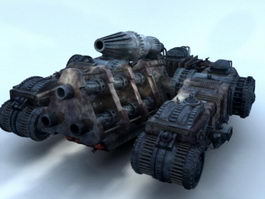 Futuristic Sci-Fi Tank 3d model