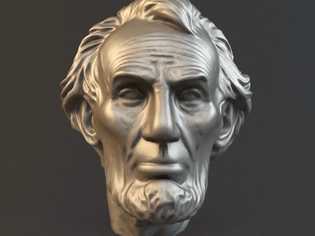Abraham Lincoln Statue Head 3d model