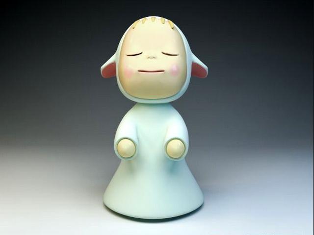 Cute Girl Figurine 3d model
