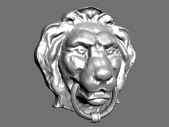 Lion Head Bas-relief 3d model