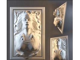 High Relief Woman 3d model