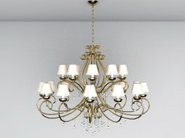 Large Chandelier Lighting 3d model