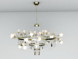 Traditional Large Chandelier 3d model