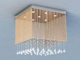Flush Ceiling Chandelier 3d model