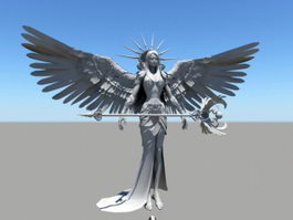 Female Angel Warrior 3d model
