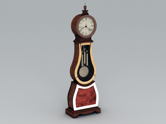Antique Floor Clock 3d model