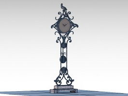 Decorative Floor Clock 3d model