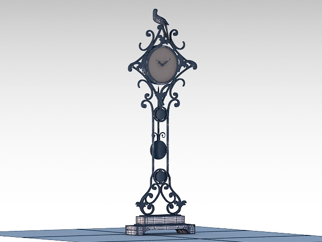 Decorative Floor Clock 3d model