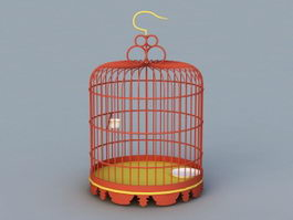 Antique Birdcage 3d model