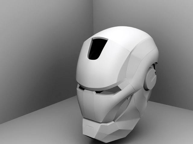 Iron Man Helmet 3d model rendered image