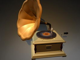 Gramophone Record Player 3d model