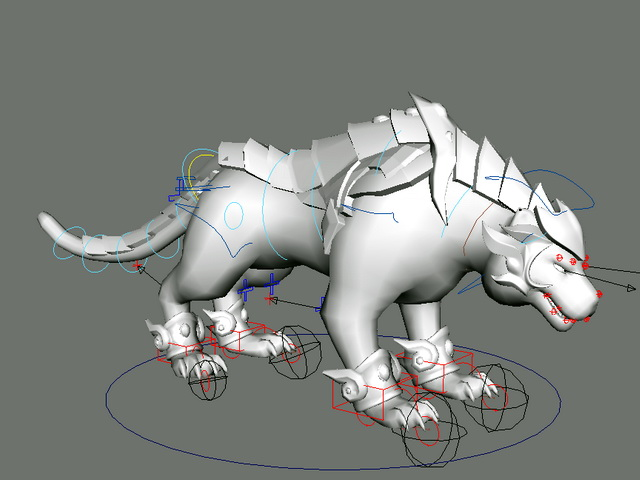 Tiger Beast Rig 3d model rendered image