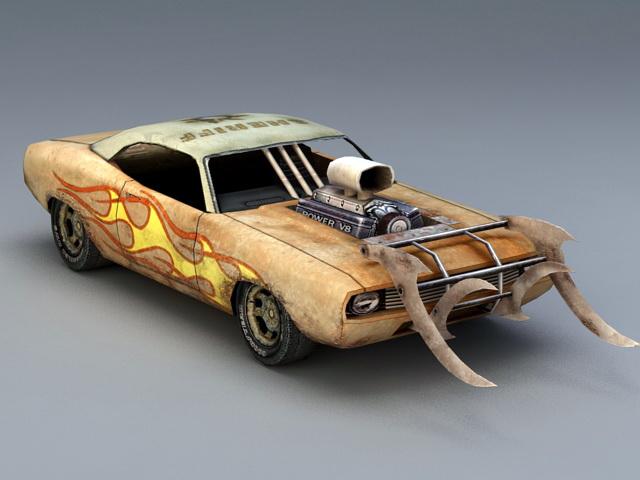 Death Race Car 3d model rendered image
