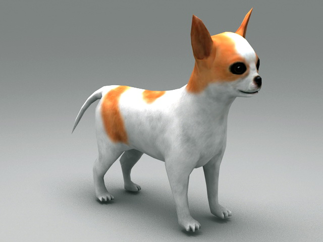 Cute Puppy 3d model rendered image