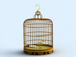 Vintage Birdcage 3d model