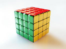 Rubiks Cube 3d preview