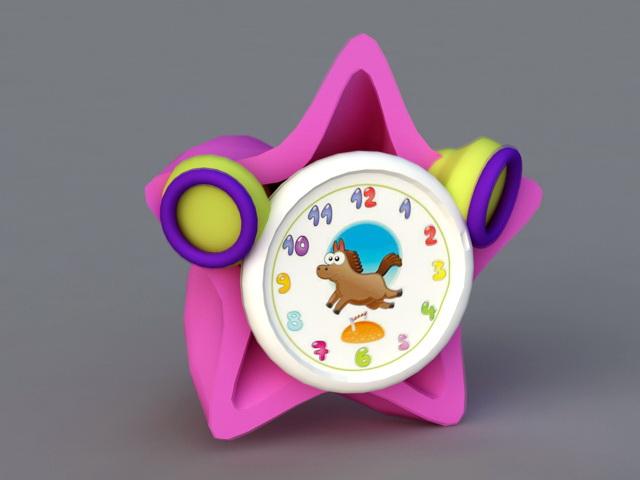 Kids Alarm Clock 3d model rendered image