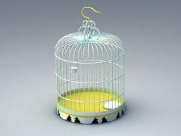 Bronze Birdcage 3d model