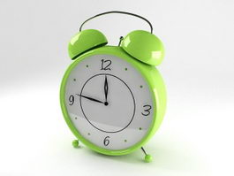 Green Alarm Clock 3d model