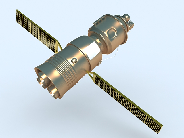Artificial Satellite 3d model rendered image