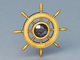 Ship Wheel Decor 3d model