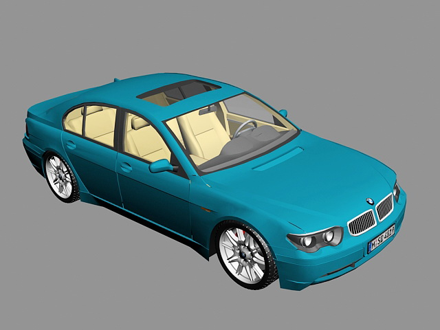 Bmw 7 Sedan 3d model rendered image
