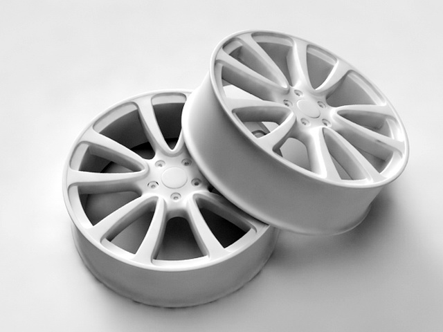 White Rims 3d model rendered image