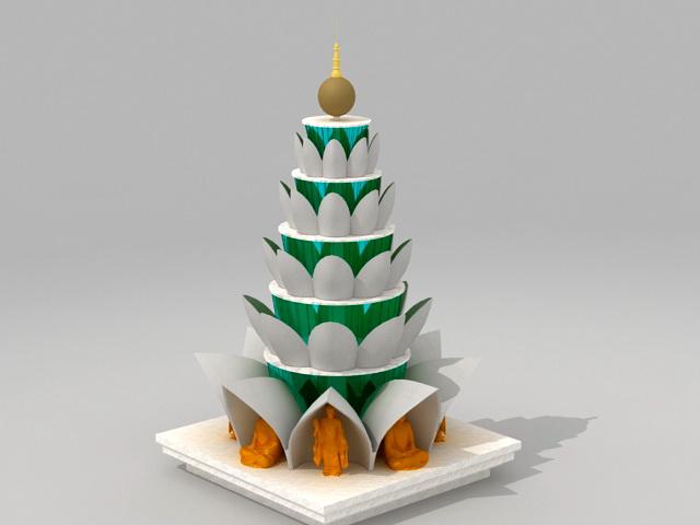 Buddhist Tower 3d model